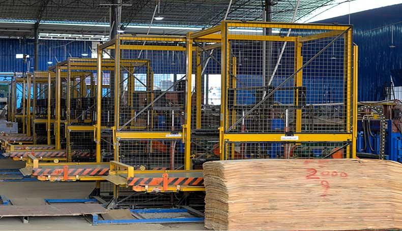 排版流水线-建筑木模板生产线设备